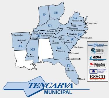 Tencarva Municpal Locations